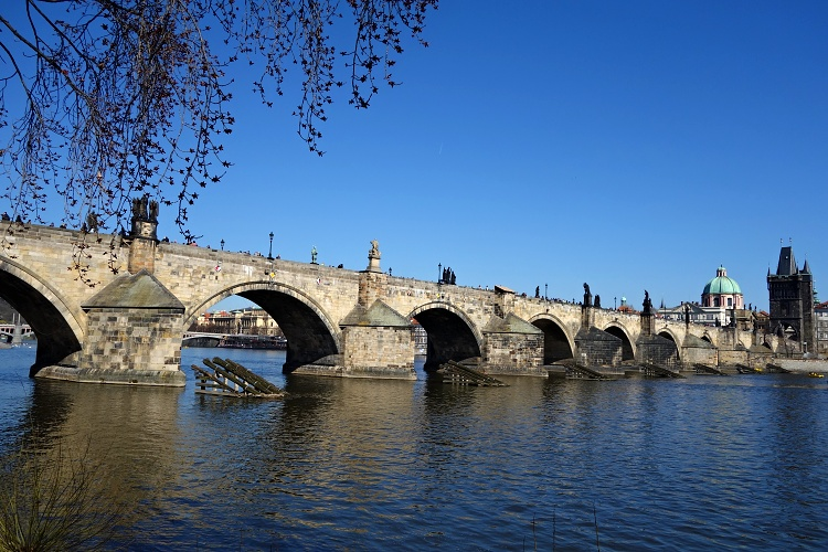 Charles Bridge is one of Prague's landmarks