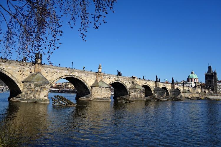 Charles Bridge is one of Prague's landmarks