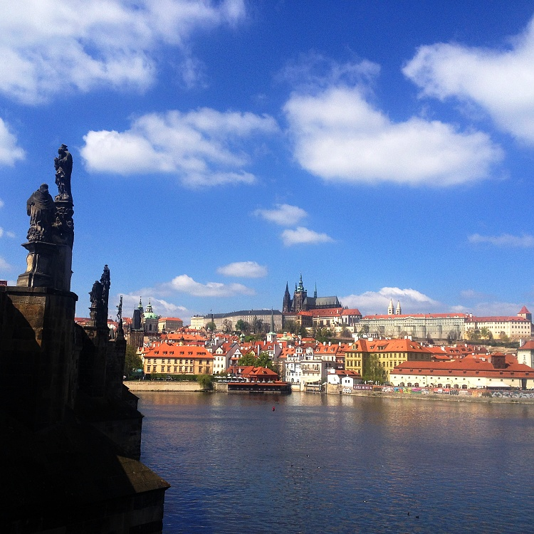 One of the best views in Prague is just off the Charles Bridge