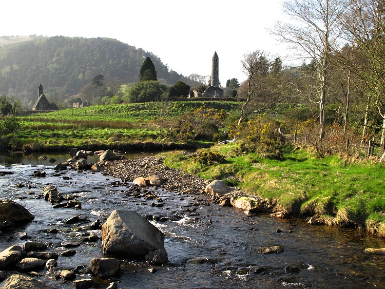 Glendalough is well-known for its monastic site and lake