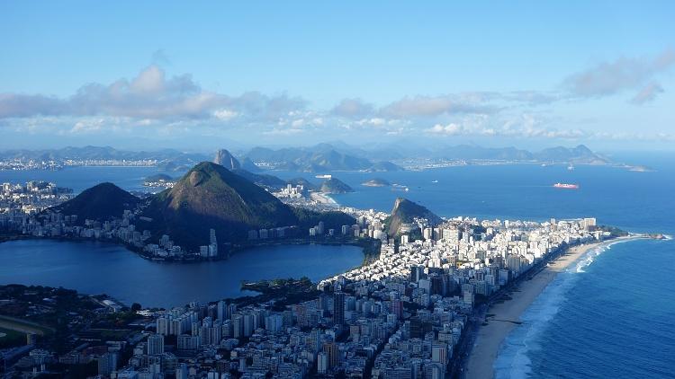 View From Dois Irmaos Mountain, Rio de Janeiro, Brazil