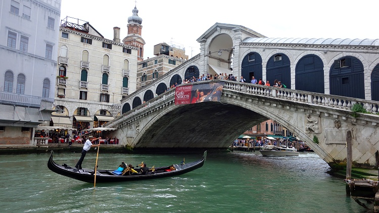 The Rialto Bridge is one of the symbols of Venice