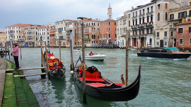 The Grand Canal is the main transportation corridor in Venice