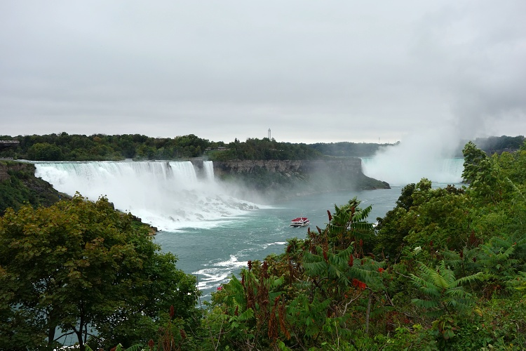 View of the Niagara Falls from the Canadian side is stunning