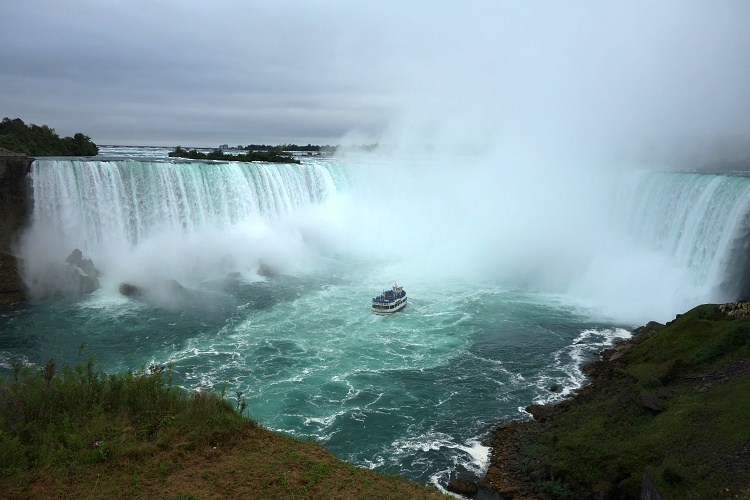 Horseshoe Falls on the Canadian side are the most impressive falls in the area