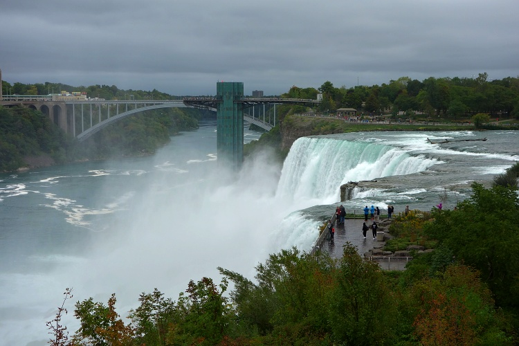 The American side of Niagara Falls is greener