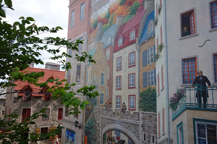 Fresque des Quebecois is a beautiful mural painting