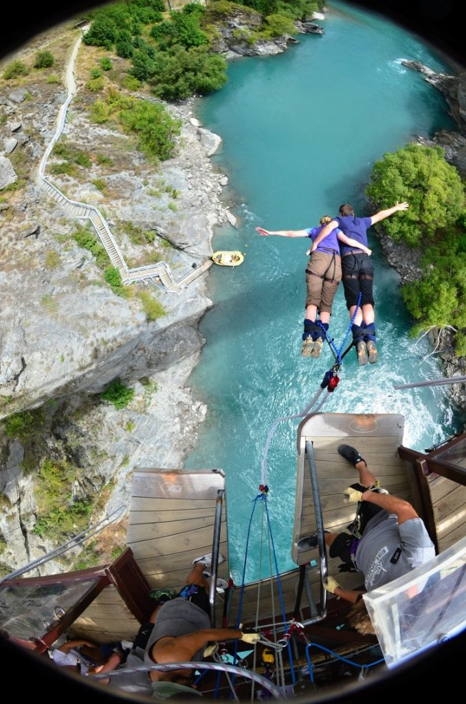Tandem Jump, Kawarau Bridge Bungy, Queenstown, New Zealand