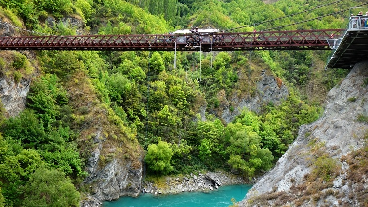 Beautiful location of the Kawarau Bridge Bungy