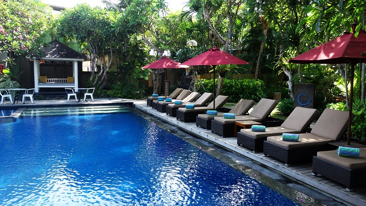 Why not spend a day by the pool? (Bali, Indonesia)