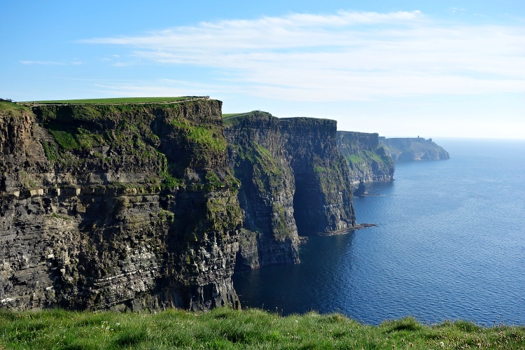 The Cliffs of Moher are located on the famous Wild Atlantic Way