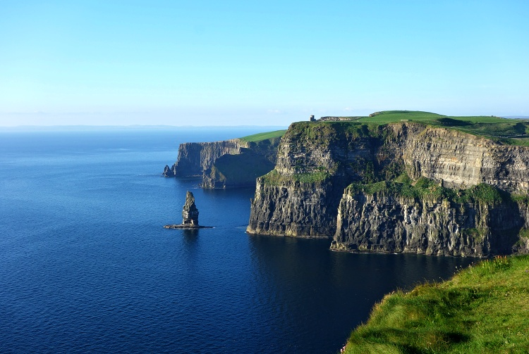 The Cliffs of Moher are one of the most visited natural sites in Ireland