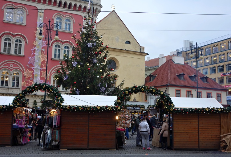 Decorated Christmas tree dominates the market in Republic Square