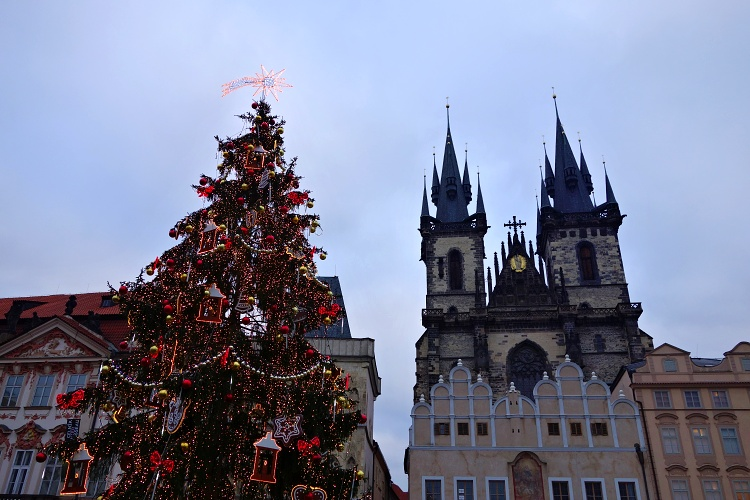 Christmas markets, Old Town Square, Prague, Czech Republic