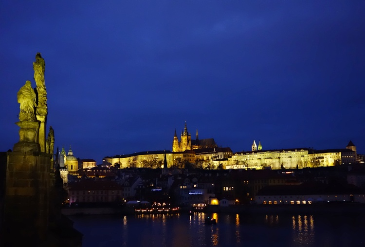 Prague Castle seen from Charles Bridge