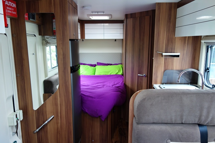 Interior of four-berth Jucy Casa