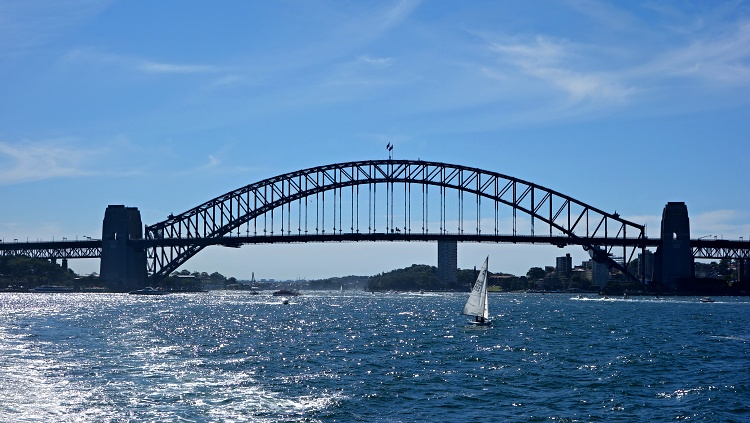 Sydney Harbour Bridge as seen from the Manly ferry