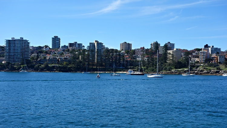 The suburb of Manly in northern Sydney