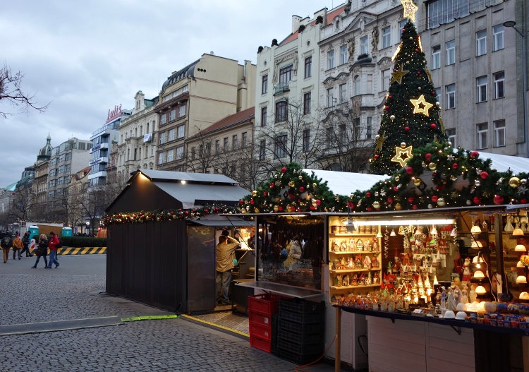 There is another popular Christmas market in Wenceslas Square