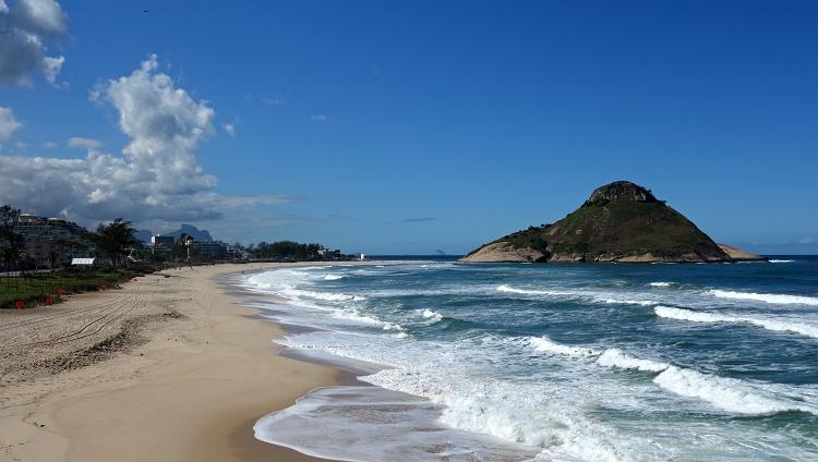 The beauty of an empty beach - Rio de Janeiro, Brazil