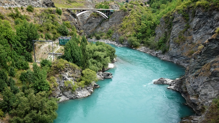 The view of the Kawarau Gorge that you get before you jump