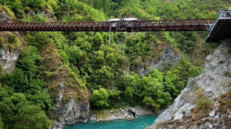 The Kawarau Bridge Bungy is the world's first commercial bungee jumping site