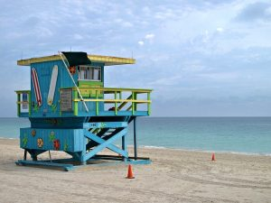 Lifeguard Tower in Miami, Florida