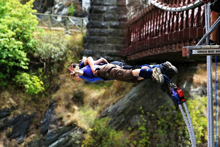 If you are scared to jump on your own, first try a tandem bungee jump with someone you trust