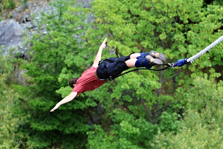 Bungee jumping is a great experience but it's not for everyone