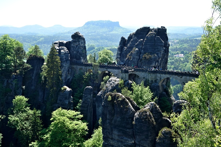 The Bastei Bridge is the main attraction of Saxon Switzerland
