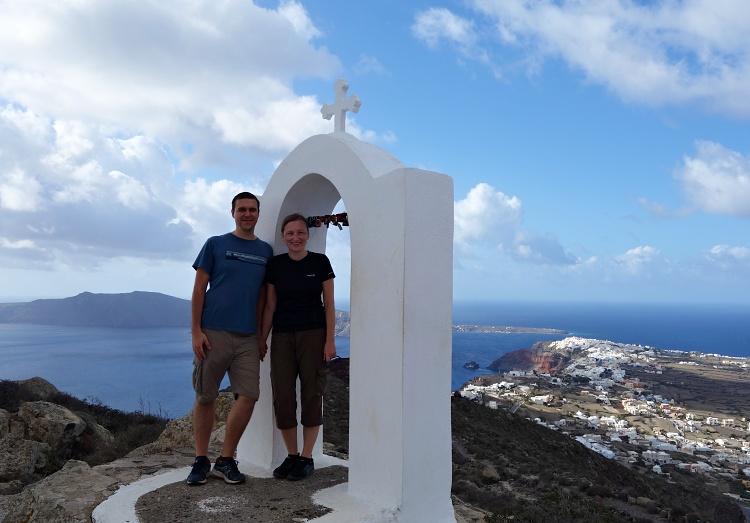 On top of Santorini Island, Greece