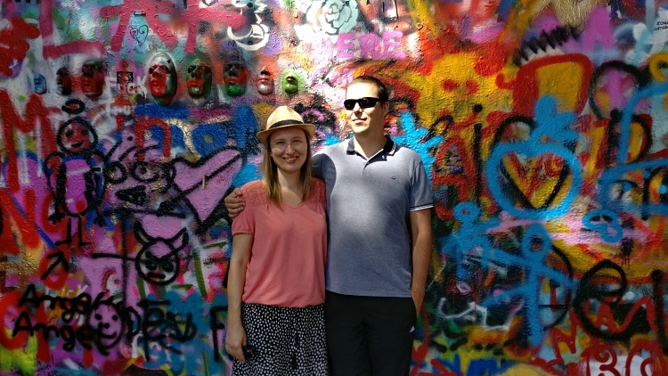 Loving the life in Prague, Czech Republic (Lennon Wall)