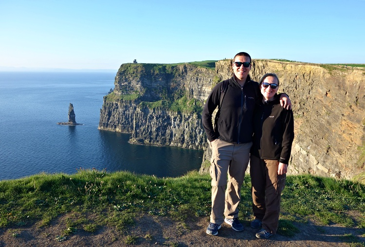Ireland was our home for 12 years (Cliffs of Moher)