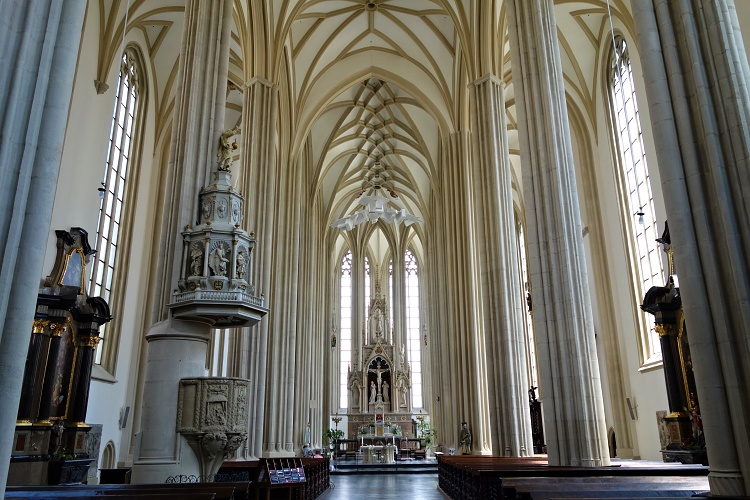 The Church of St James is one of many beautiful churches in Brno