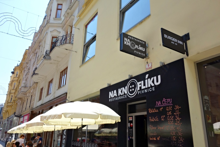 Try cheap and cheerful Czech food at the restaurant Na Knofliku