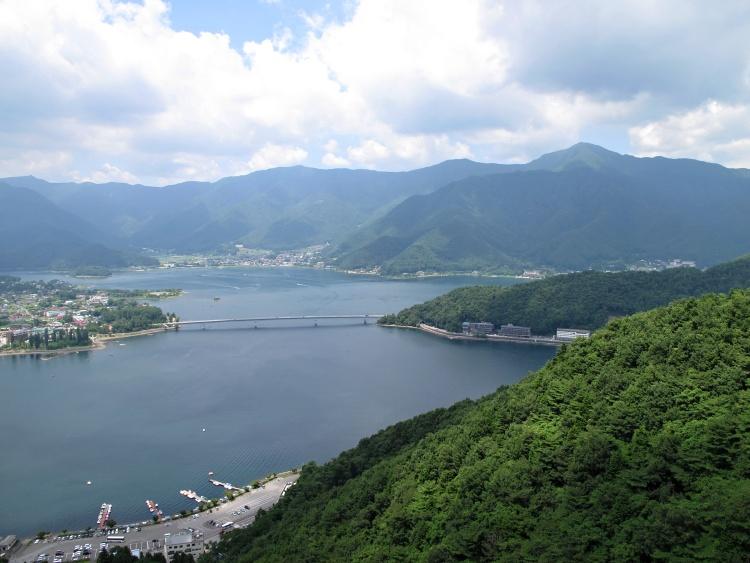 View of Lake Kawaguchiko from Mount Tenjo