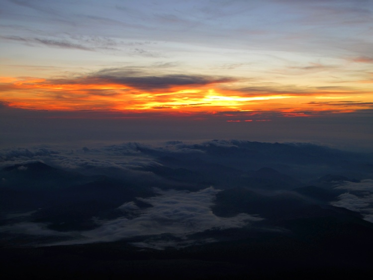 The sunrise on the top of Mount Fuji - the reward after the hard work