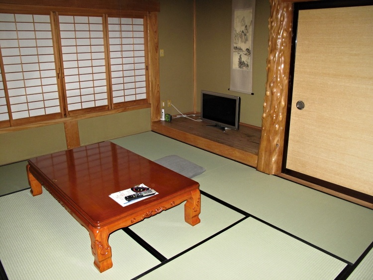 A typical room in a ryokan, Japan