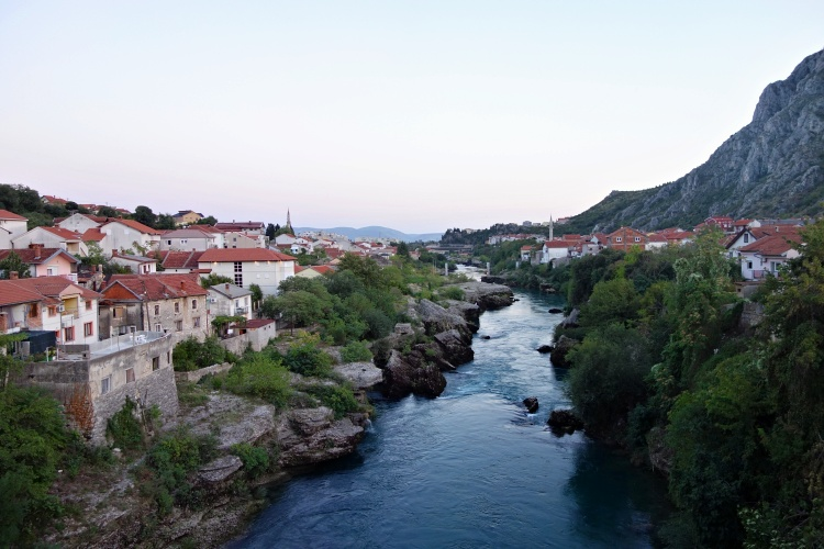 The Neretva River connects the two sides of the city