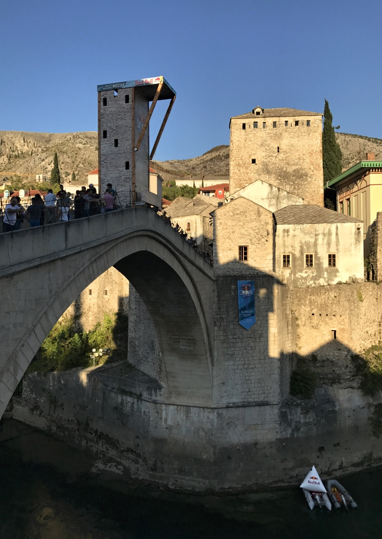The Old Bridge in Mostar is the only UNESCO site in the Red Bull Cliff Diving Series