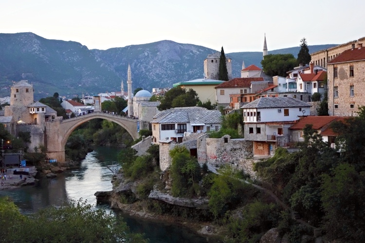 The Old Bridge (Stari Most) was destroyed during the Bosnian war in 1993