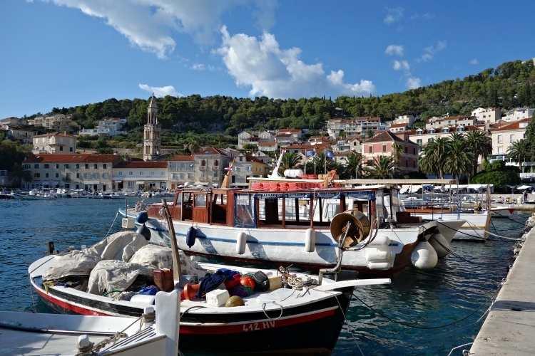 Colourful harbour in Hvar Town