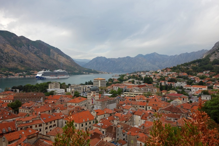 Climb up the Town Walls for the best views of Kotor Bay