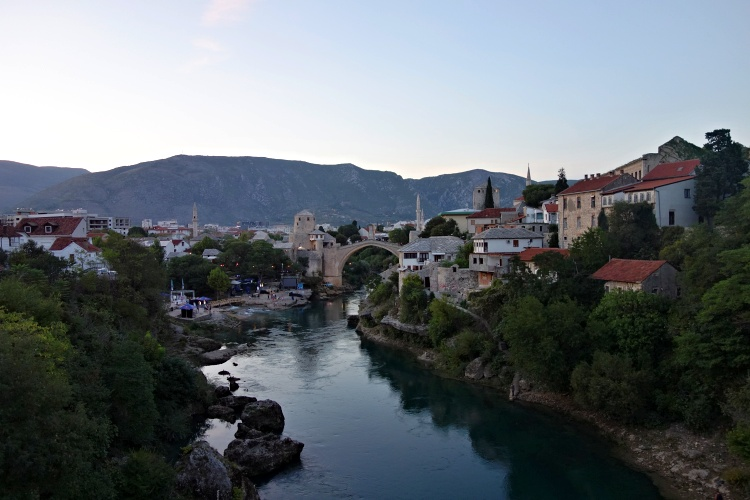 Mostar is a city where East and West mix together