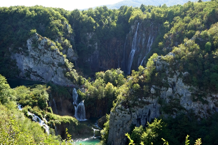 Plitvice Lakes National Park is home to beautiful lakes, waterfalls and cascades