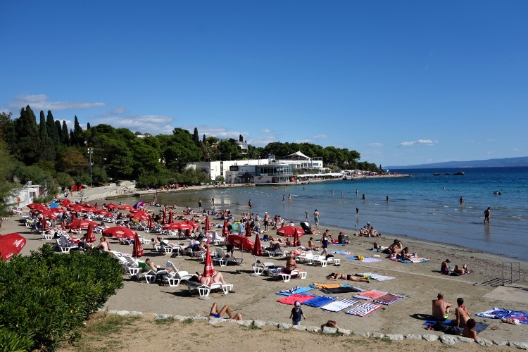 Bacvice Beach is great for families