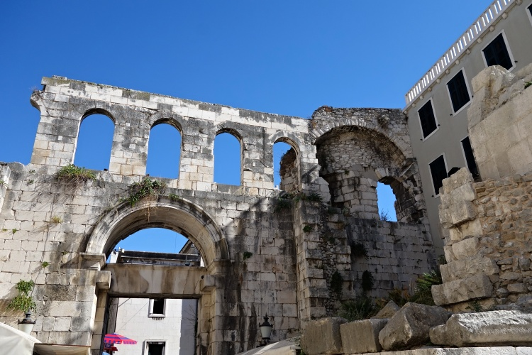 The historic centre of Split reminds of ancient Rome