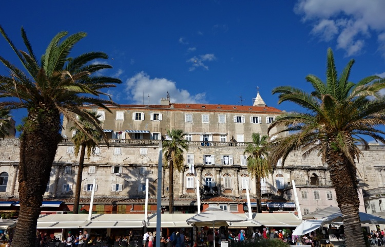 The seafront promenade in Split will make you feel like you are on the French Riviera