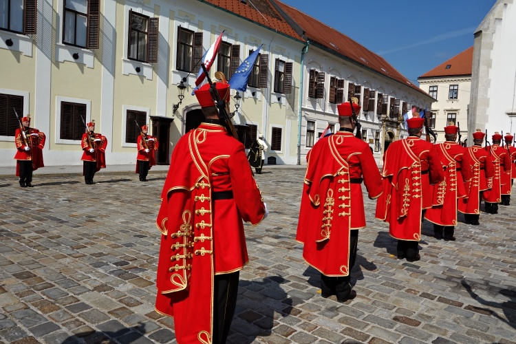 Don't miss the changing of the guard in St. Mark's Square