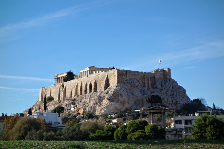 The Acropolis dominates the cityscape of Athens